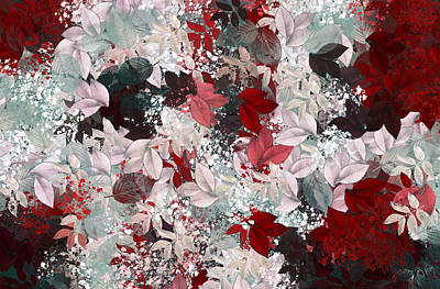 Floral Abstract Digital Art - Naturaleaves - S69-02a by Variance Collections