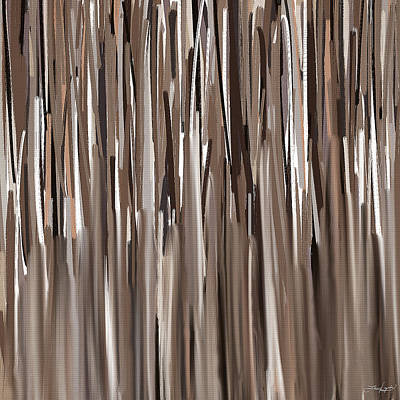 Abstract Lines Painting - Naturally Brown by Lourry Legarde