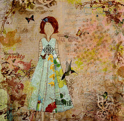 Folkart Mixed Media - Naturally Pretty by Janelle Nichol