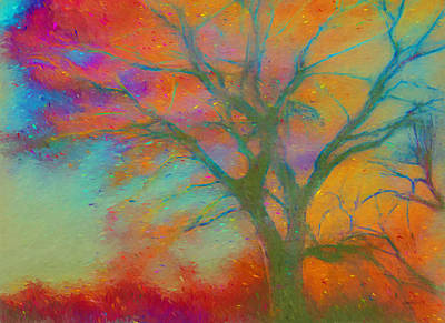 Painting - nature - art - Autumn Blaze by Ann Powell