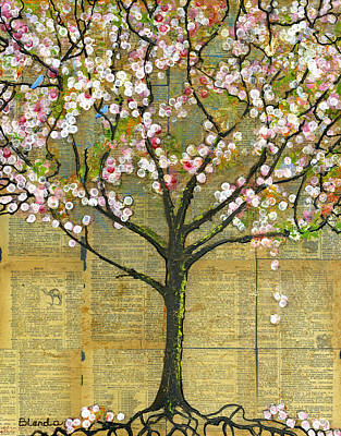 Branches Mixed Media - Nature Art Landscape - Lexicon Tree by Blenda Studio