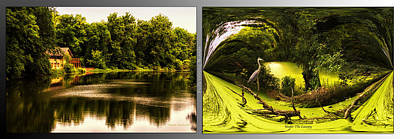 Nature Center 01 Under The Canopy Fullersburg Woods 2 Panel Art Print by Thomas Woolworth