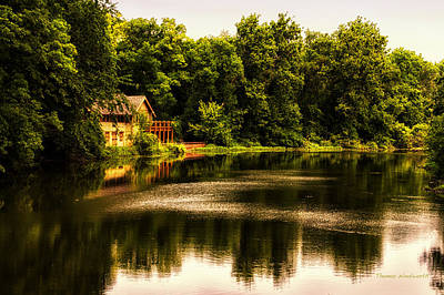 Nature Center Salt Creek In August Art Print by Thomas Woolworth
