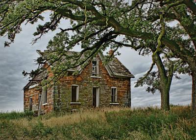 Old Abandoned Farmhouse Photograph - Nature Encroaches - 1 by Nikolyn McDonald