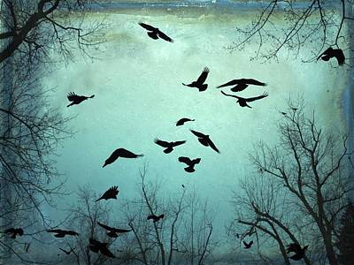 Flock Of Bird Photograph - Nature In Motion by Gothicrow Images