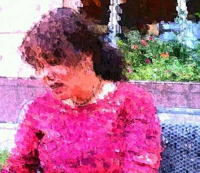 Nature Lady Sad Original by Ilah Watkins
