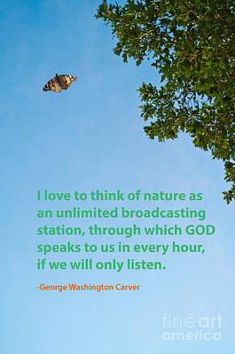 George Washington Carver Photograph - Nature Quote 1 by Gary Richards