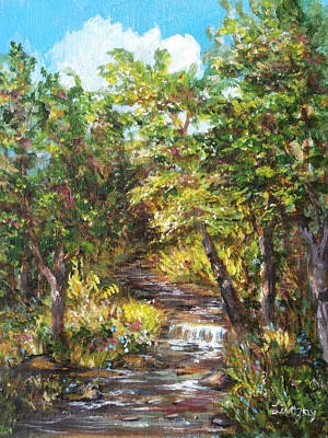 Painting - Nature River Painting by Luczay