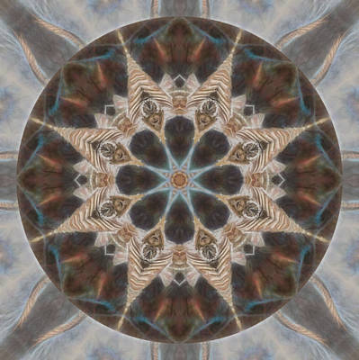 Digital Art - Nature Speaks Mandala  by Beth Sawickie