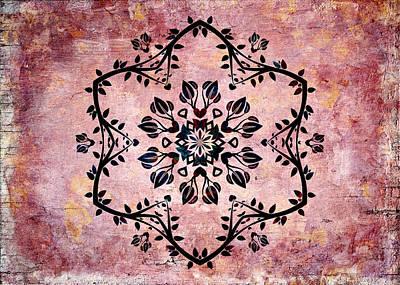 Kaleidoscope Wall Art - Digital Art - Nature Vibe Mandala - S03bt03d by Variance Collections