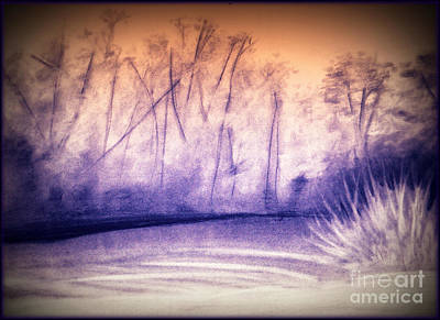 Mixed Media - Nature Walk At Sunset by Angie Staft
