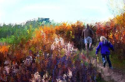 Mixed Media - Nature Walk by Terence Morrissey