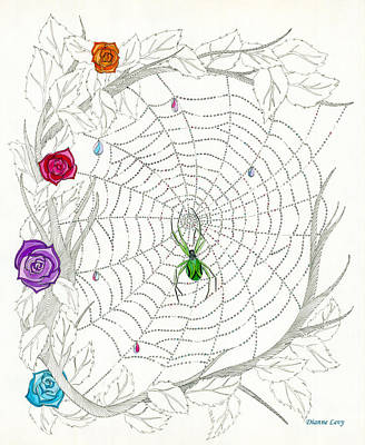 Drawing - Nature's Art by Dianne Levy