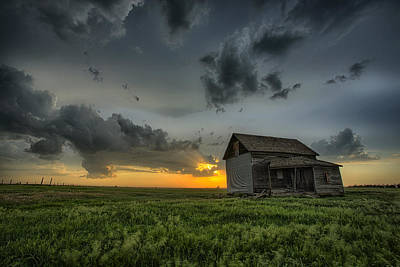 Prairie Storm Photograph - Nature's Beautiful Fury by Thomas Zimmerman