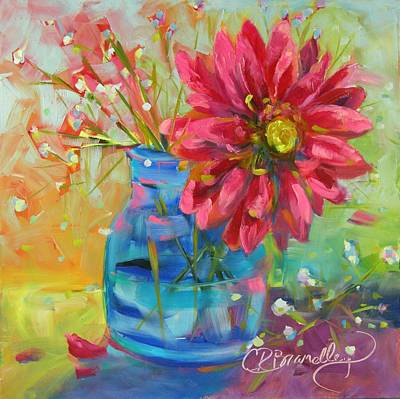 Gerber Daisy Painting - Nature's Confetti by Chris Brandley