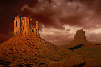 Natures Fury In Monument Valley Arizona Print by Katrina Brown
