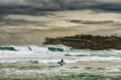Photograph - Natures Fury Surfers Paradise - Bondi Beach - Australia - Colour by Photography  By Sai