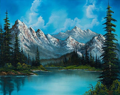Sawtooth Mountains Painting - Nature's Grandeur by C Steele