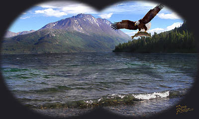 Soaring Painting - Nature's Granduer II by Doug Kreuger