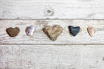 Found Object Art Photograph - Nature's Hearts by Art Block Collections