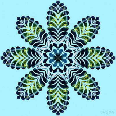 Digital Art - Nature's Mandala 04 by Derek Gedney