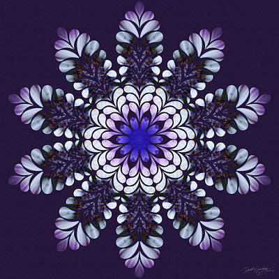 Digital Art - Nature's Mandala 05 by Derek Gedney