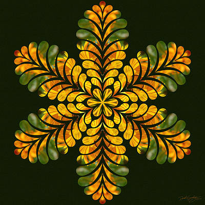 Digital Art - Nature's Mandala 06 by Derek Gedney