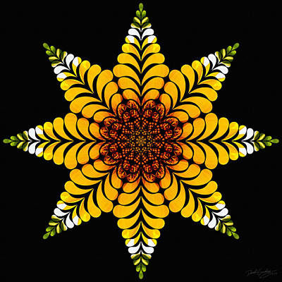Digital Art - Nature's Mandala 07 by Derek Gedney