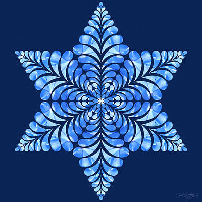 Digital Art - Nature's Mandala 08 by Derek Gedney