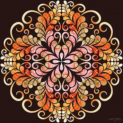 Digital Art - Nature's Mandala 09 by Derek Gedney