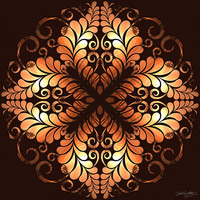 Digital Art - Nature's Mandala 38 by Derek Gedney