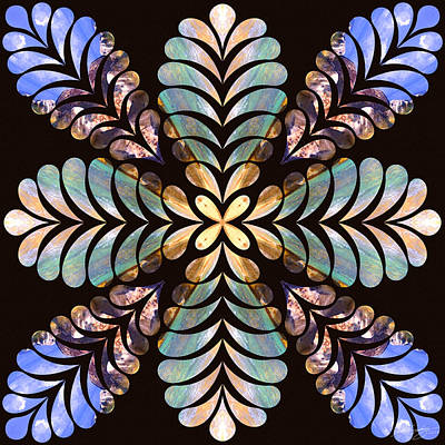 Digital Art - Nature's Mandala 40 by Derek Gedney