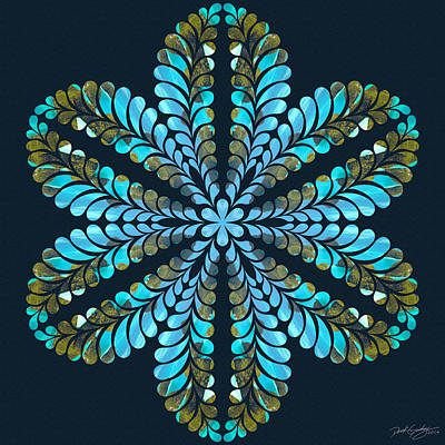 Digital Art - Nature's Mandala 41 by Derek Gedney