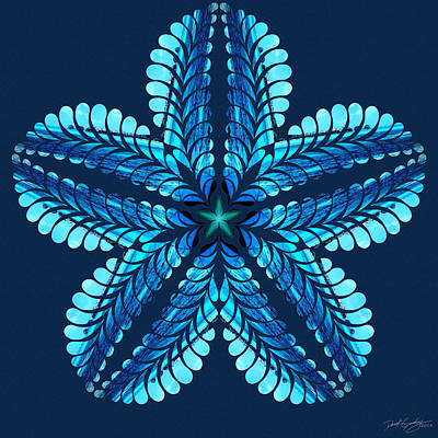 Digital Art - Nature's Mandala 42 by Derek Gedney