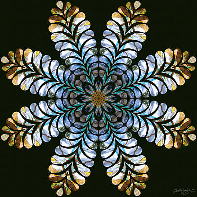 Digital Art - Nature's Mandala 43 by Derek Gedney
