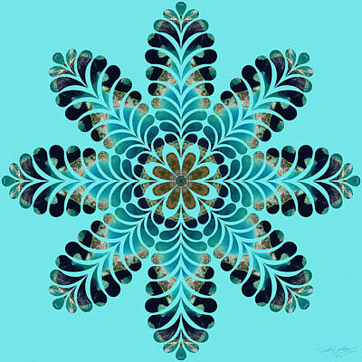 Digital Art - Nature's Mandala 44 by Derek Gedney
