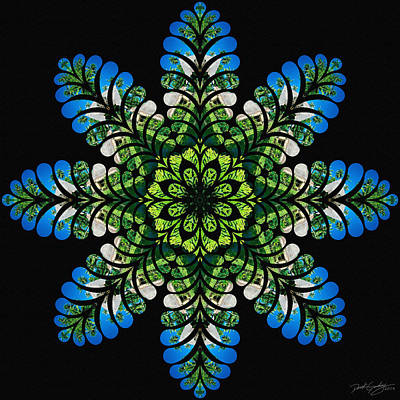 Digital Art - Nature's Mandala 45 by Derek Gedney