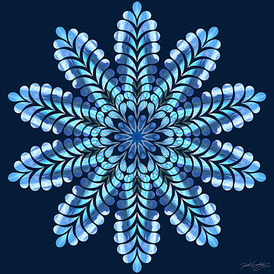 Digital Art - Nature's Mandala 46 by Derek Gedney