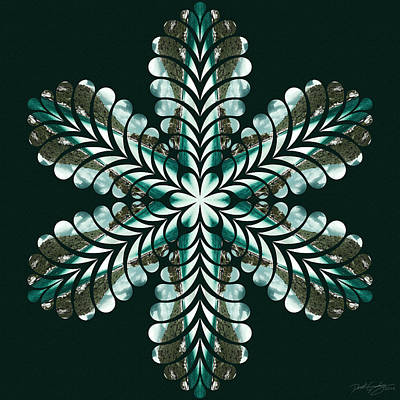 Digital Art - Nature's Mandala 47 by Derek Gedney