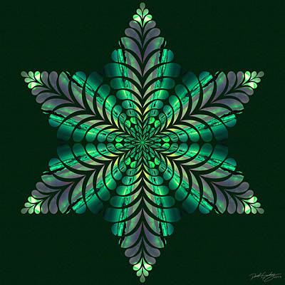 Digital Art - Nature's Mandala 50 by Derek Gedney