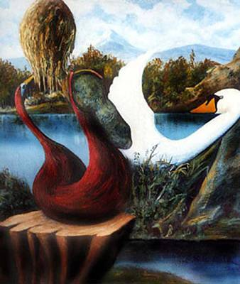 Painting - Natures Mystical Moments by George Flay