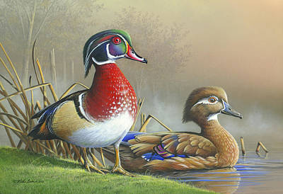 Art Print featuring the painting Nature's Palette by Mike Brown