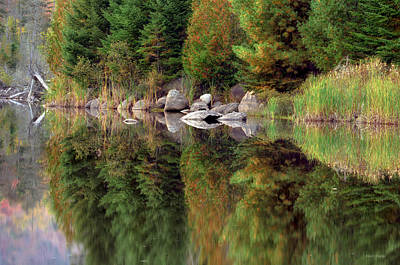 Reflections In Water Photograph - Natures Reflection by Mark Papke