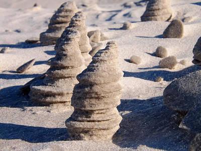 Mayflower Beach Photograph - Nature's Sand Art by Dianne Cowen