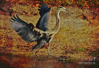 Heron Mixed Media - Natures Winged Grace by Deborah Benoit