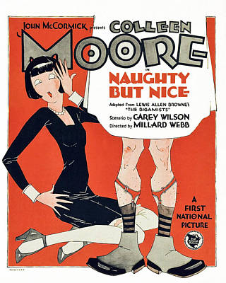Spats Photograph - Naughty But Nice, Colleen Moore by Everett