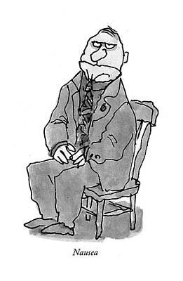 Emotion Drawing - Nausea by William Steig