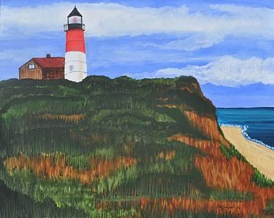 Nauset Beach Lighthouse Original by Sally Rice