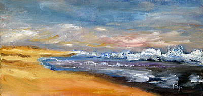 Cape Cod Painting - Nauset Beach Surf by Michael Helfen
