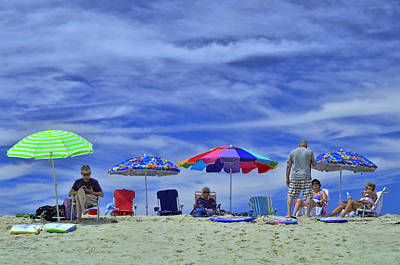Photograph - Nauset Beach Umbrellas by Allen Beatty